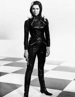 Diana Rigg as Emma Peel in catsuit