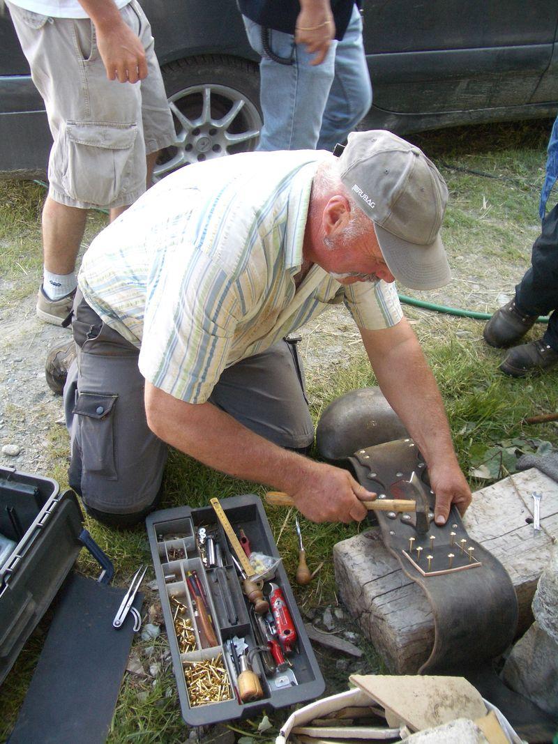 Repairing a cowbell strap