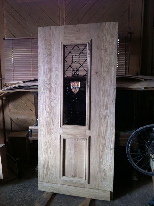 Front door with wrought ironwork