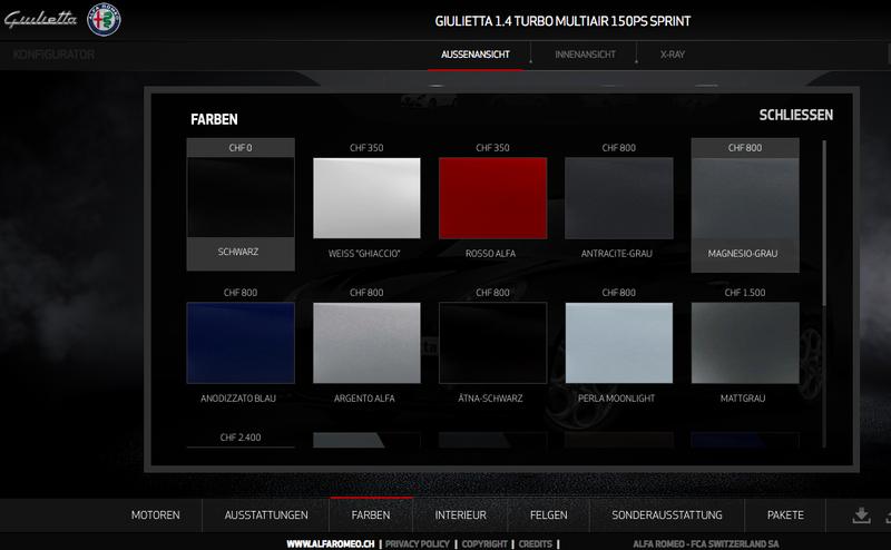 Alfa colours