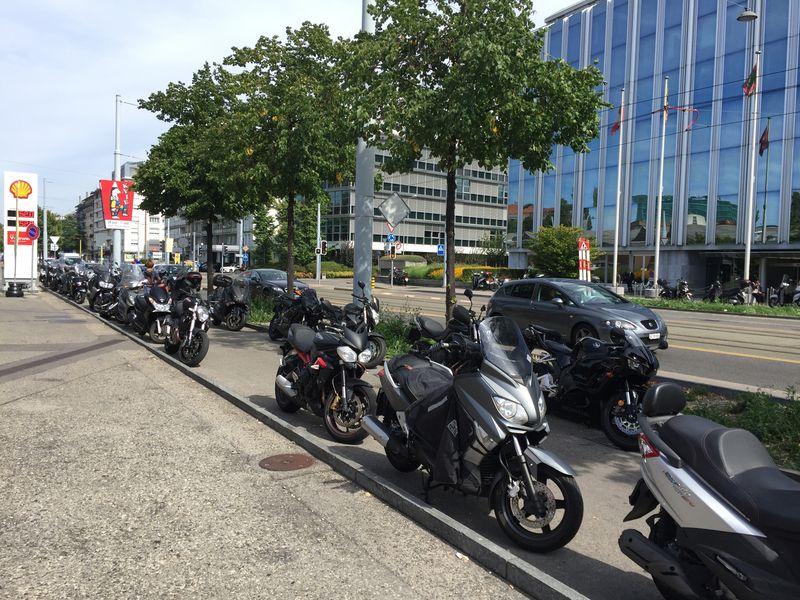 Motorbikes in Geneva